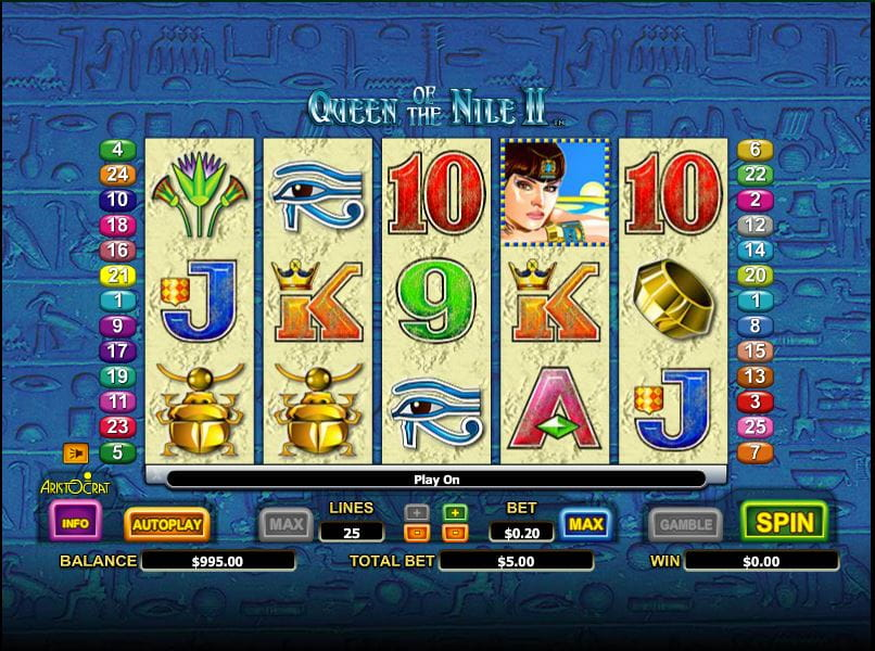Queen of the Nile II Online Slot