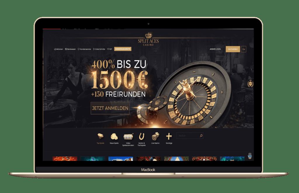 Split Aces Casino: 400% Bonus bis 1.500 EUR