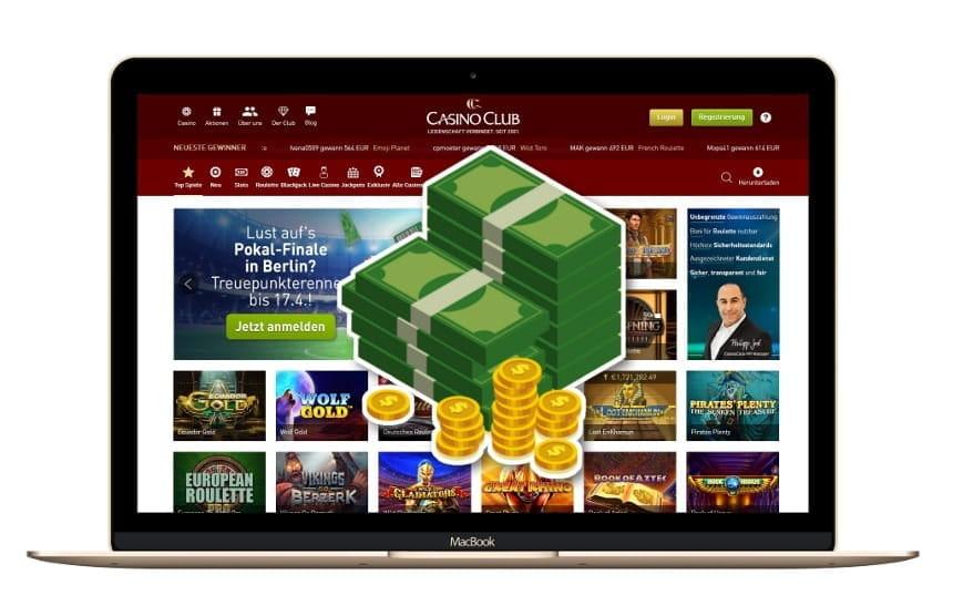 Bis zu 1.400 Euro Bonus im Casino Club