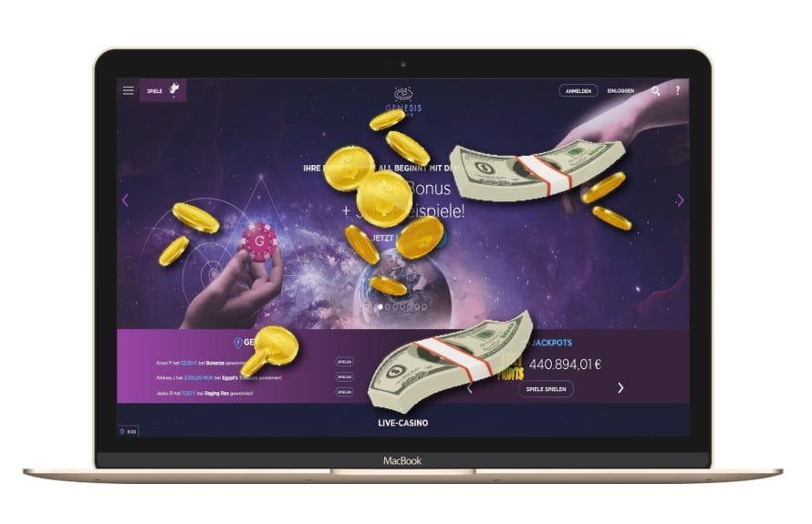 Genesis Online Casino: Bonus Code mit Free Spins