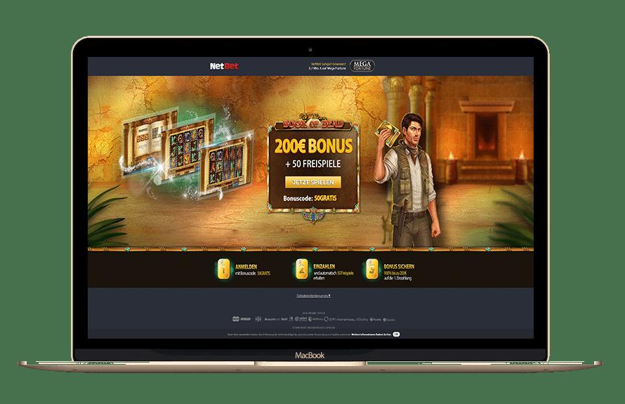 NetBet Casino Bonus Code mit Matchbonus & Freispielen