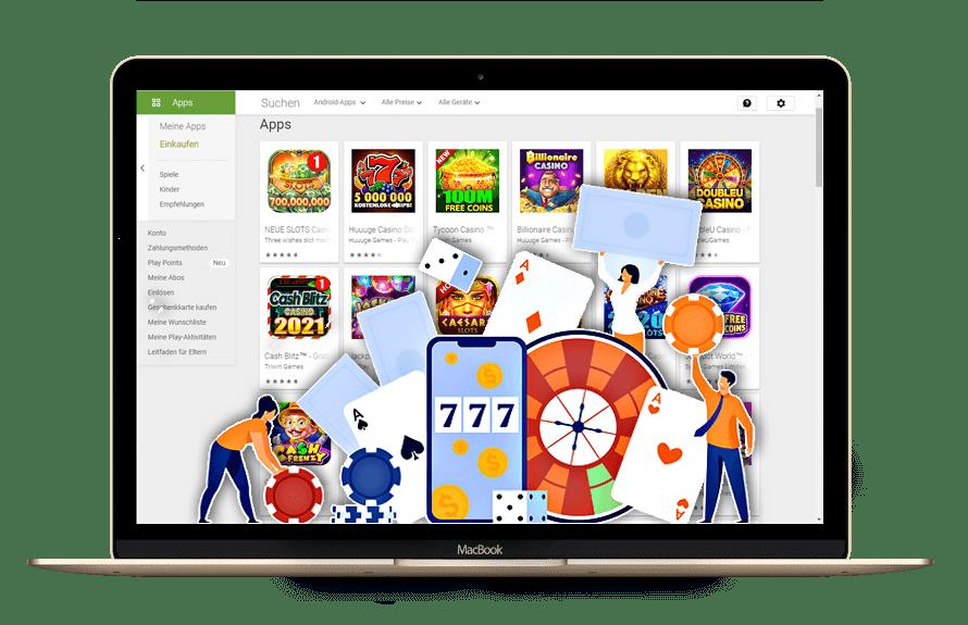 Google erlaubt Glücksspiel-Apps um Echtgeld