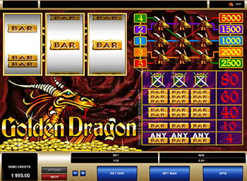 Golden Dragon paytable